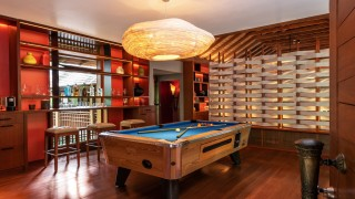 The Datai Langkawi The Datai Estate Villa Meranti pool table and bar